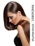 brown hair. beautiful woman... | Shutterstock . vector #108092846