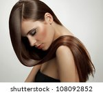 brown hair. beautiful woman... | Shutterstock . vector #108092852