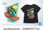 funny skeleton. print on t... | Shutterstock .eps vector #1080937712