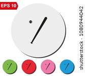 baseball bat flat round... | Shutterstock .eps vector #1080944042