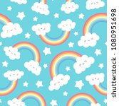 cute cloud background with... | Shutterstock .eps vector #1080951698