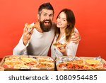 pizza time. fast food. loving... | Shutterstock . vector #1080954485