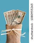 american dollars cash money in... | Shutterstock . vector #1080955265