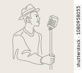 cartoon jazz character   Shutterstock .eps vector #1080958055