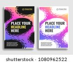 a collection of covers with... | Shutterstock .eps vector #1080962522