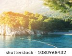 sunset summer view of adriatic... | Shutterstock . vector #1080968432