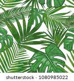 vector  seamless pattern of ... | Shutterstock .eps vector #1080985022