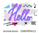 vector illustration with... | Shutterstock .eps vector #1080989612
