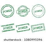 power stamps on white | Shutterstock .eps vector #1080995396