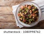 brazilian feijao tropeiro... | Shutterstock . vector #1080998762