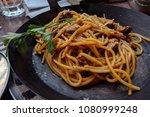 juicy pasta brunch   Shutterstock . vector #1080999248
