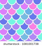 colorful mermaid tail seamless...   Shutterstock .eps vector #1081001738