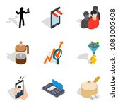 wholesale purchase icons set.... | Shutterstock .eps vector #1081005608