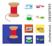 thread reel  sewing machine ... | Shutterstock .eps vector #1081007855