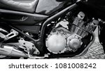 close up of a motorcycle engine ... | Shutterstock . vector #1081008242