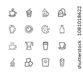 premium set of coffee and tea... | Shutterstock .eps vector #1081018622