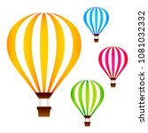colorful hot air balloons set... | Shutterstock .eps vector #1081032332