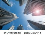 looking up at business... | Shutterstock . vector #1081036445