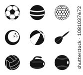 ball icons set. simple style... | Shutterstock . vector #1081037672