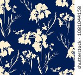 floral seamless pattern with... | Shutterstock .eps vector #1081044158