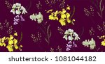 floral seamless pattern with... | Shutterstock .eps vector #1081044182