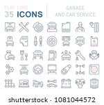 set of vector line icons  sign... | Shutterstock .eps vector #1081044572