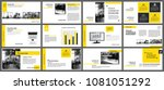 yellow element for slide... | Shutterstock .eps vector #1081051292