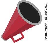 red megaphone illustration  ... | Shutterstock .eps vector #1081057562