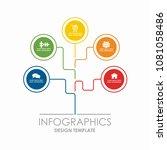 infographic template. vector...   Shutterstock .eps vector #1081058486