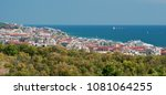 panoramic aerial view of... | Shutterstock . vector #1081064255