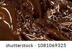 background with liquid... | Shutterstock . vector #1081069325