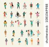 vector illustration in flat... | Shutterstock .eps vector #1081069988