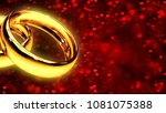 background with two gold rings... | Shutterstock . vector #1081075388