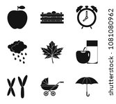 chromosome icons set. simple... | Shutterstock . vector #1081080962