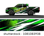 truck and car graphic vector....
