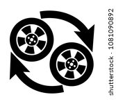 automobile wheel changing glyph ... | Shutterstock .eps vector #1081090892