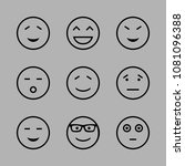 icons emoticons with amused... | Shutterstock .eps vector #1081096388