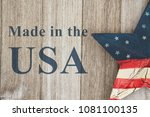 made in the usa message  usa... | Shutterstock . vector #1081100135