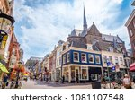 traditional old street and... | Shutterstock . vector #1081107548