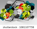 3d hexagon geometric... | Shutterstock .eps vector #1081107758