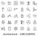 thin line icon set   browser... | Shutterstock .eps vector #1081108505