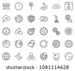 thin line icon set   around the ... | Shutterstock .eps vector #1081114628