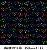 background of hearts | Shutterstock . vector #1081116416