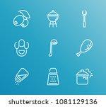 cuisine icon set and salt...