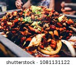 spicy grilled fish | Shutterstock . vector #1081131122
