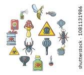 poison danger toxic icons set.... | Shutterstock .eps vector #1081131986