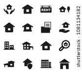 flat vector icon set   house... | Shutterstock .eps vector #1081134182