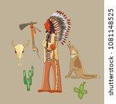indian  cartoon set. indian ...   Shutterstock .eps vector #1081148525