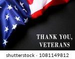 thank you veterans text. us... | Shutterstock . vector #1081149812