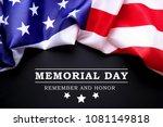 memorial day weekend text... | Shutterstock . vector #1081149818